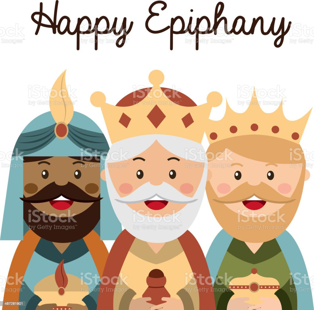 Happy epiphany stock vector art more images of brochure for Decoration epiphanie
