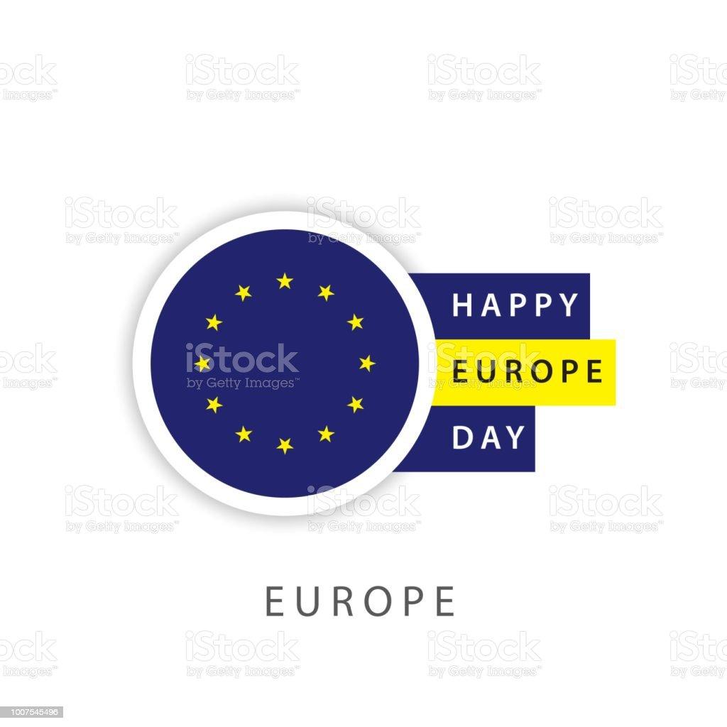 Happy Europe Day Vector Template Design Illustrator Stock