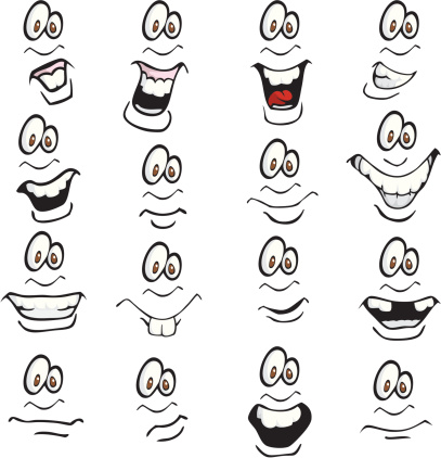 Happy Face Cartoon Expressions