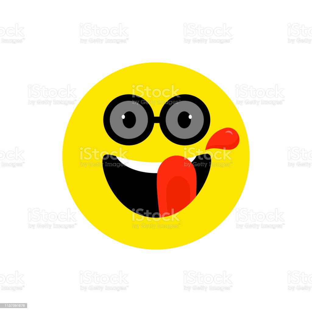 Happy Face Smiling Emoji With Open Mouth And Sunglasses Funny Smile