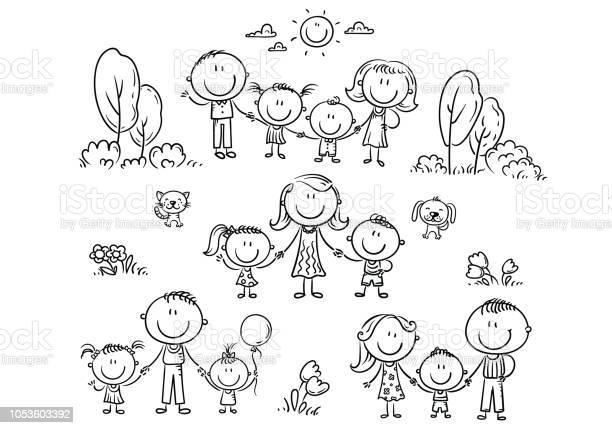 Happy families set with children outline illustration vector id1053603392?b=1&k=6&m=1053603392&s=612x612&h=lsgbq5 9kjzj4ei laz qeu5fjbvypvcahbllznzvqu=