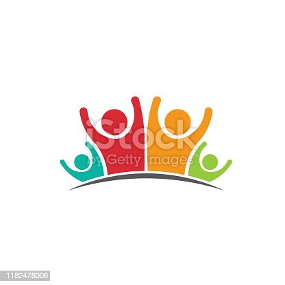 istock Happy Family business people and projects.  Concept of Group of People, happy team, victory 1182478006