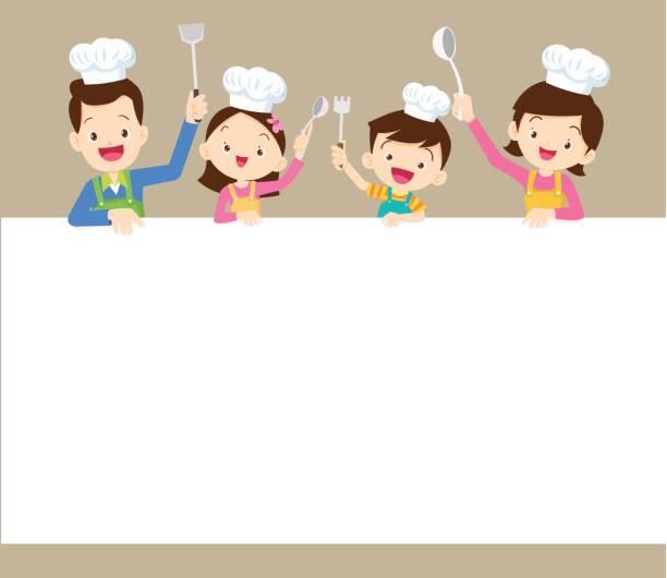 Héhé, cuisine avec espace cadre - Illustration vectorielle