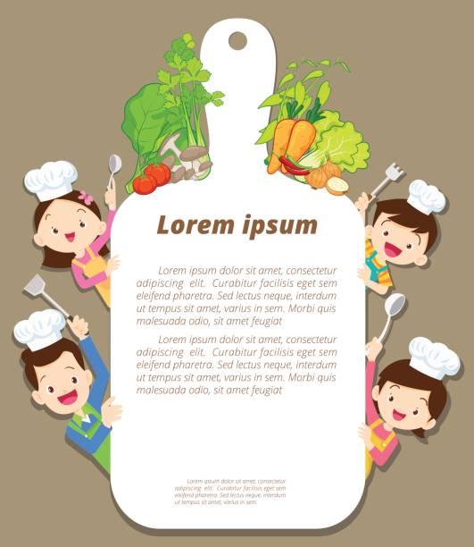 Héhé, cuisiner avec les templaet - Illustration vectorielle