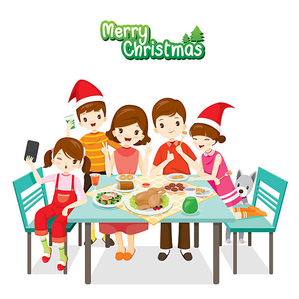 Best Eat Drink And Be Merry Christmas Illustrations ...