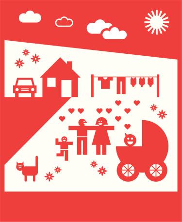 Glückliche Familie icons 02 (Vektor