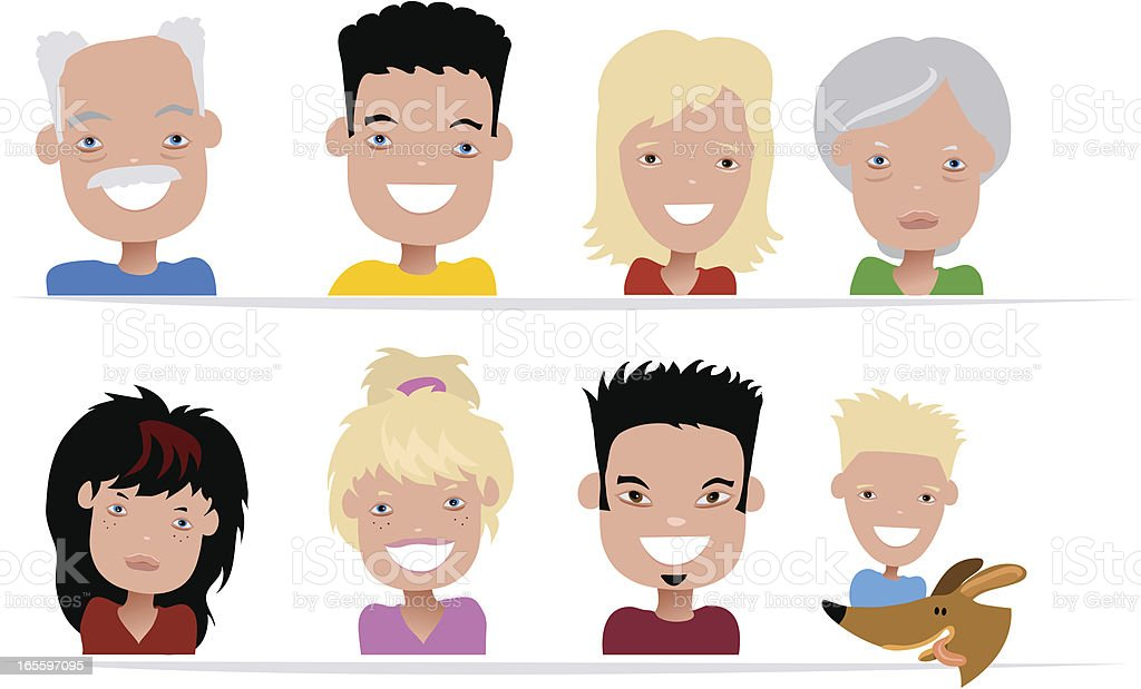 Happy Family Icons royalty-free happy family icons stock vector art & more images of adult
