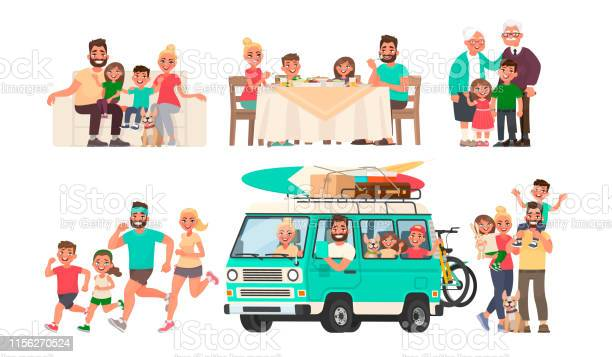 Happy family is resting eating at the table going on a journey by car vector id1156270524?b=1&k=6&m=1156270524&s=612x612&h=bjx6yvvfattkicybp5q6fvur rryw31lrfh16pd62dy=