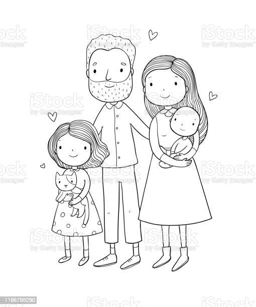 Happy family parents with children cute cartoon dad mom daughter son vector id1166795290?b=1&k=6&m=1166795290&s=612x612&h=uzvvltjgoycsxsxhit 34bawlsenkyfil1i6yryk7kg=