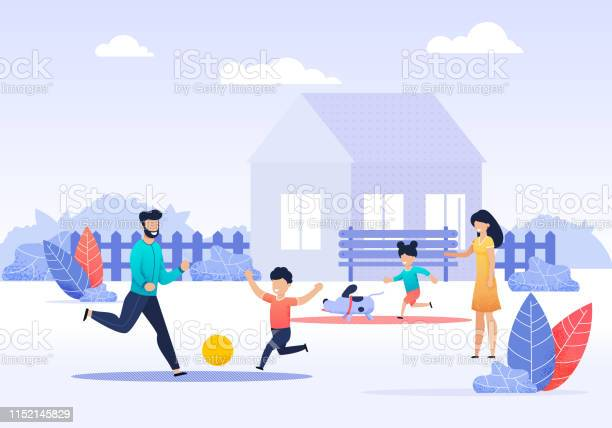 Happy family spending time on backyard cartoon vector id1152145829?b=1&k=6&m=1152145829&s=612x612&h=33fhmczvrdp6iyhors6hm4cnwntb5zvcazh8cexhdoo=