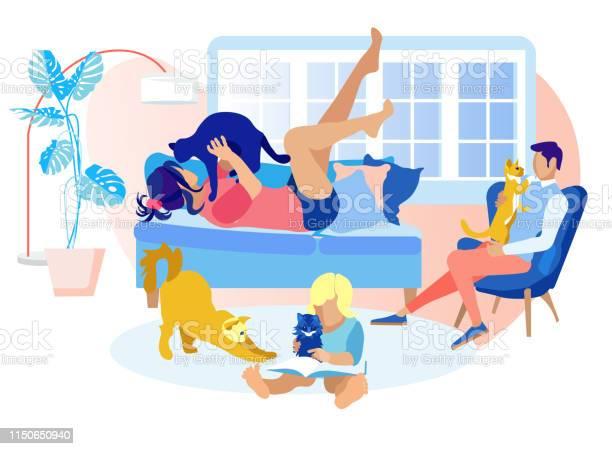 Happy family spending time with pets sweet moment vector id1150650940?b=1&k=6&m=1150650940&s=612x612&h=7kstc0vgf30zdi9qj56ojgbqguh1tb cg7lk8tdmtf4=