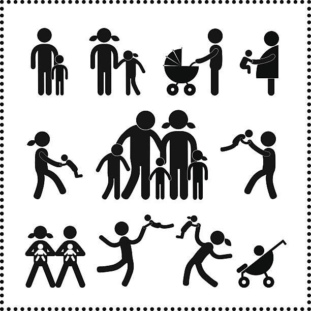 Top 60 Black Family Clip Art Vector Graphics And Illustrations Istock