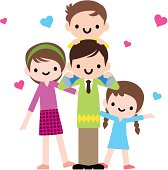 Vector illustration – Family Spending Quality Time Together.