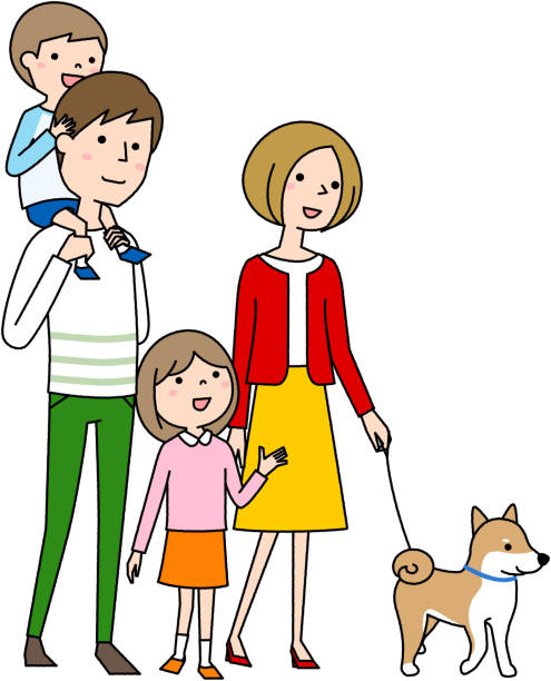 Happy family - illustrazione arte vettoriale
