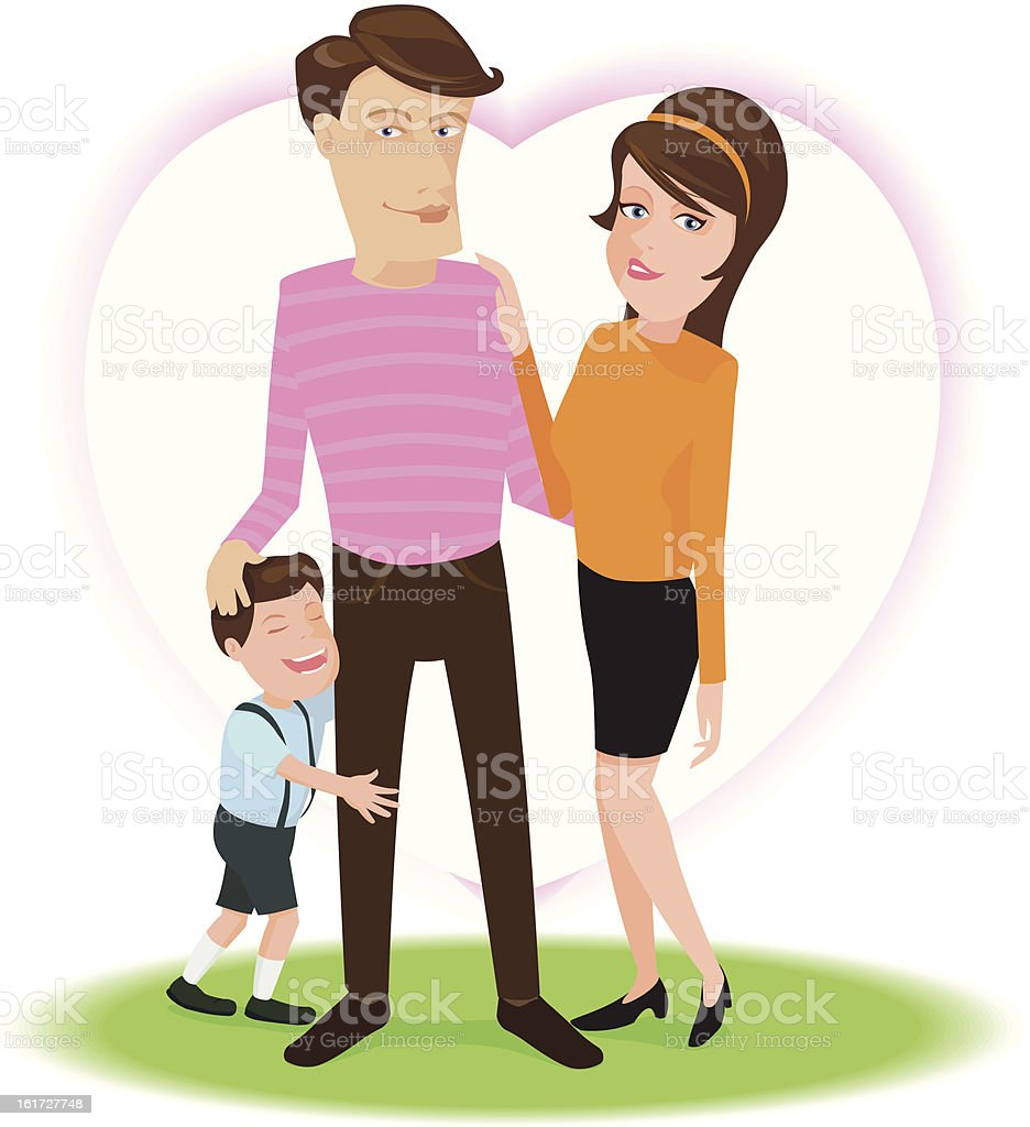 Happy family royalty-free stock vector art