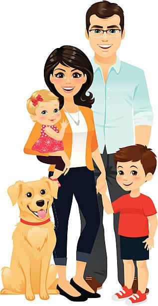 glückliche familie - adoption stock-grafiken, -clipart, -cartoons und -symbole