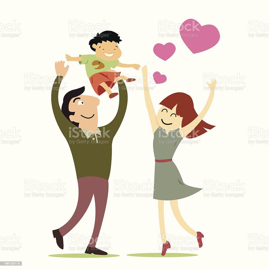 Happy family royalty-free stock vector art