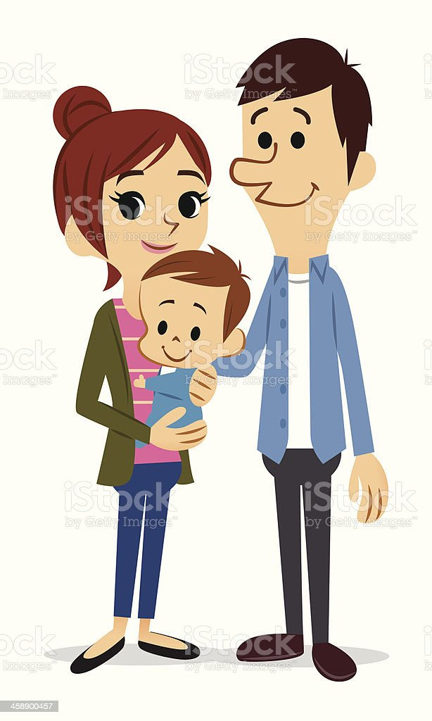 royalty free family with one child clip art vector images rh istockphoto com happy family clipart png happy family clip art free