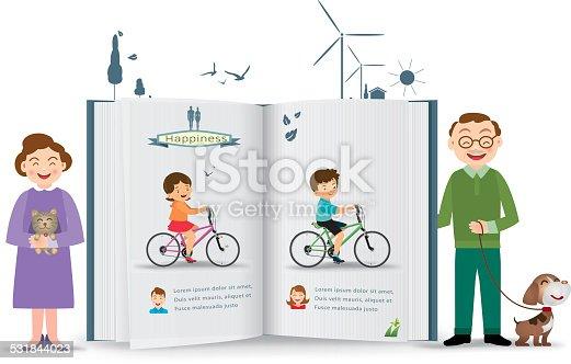 istock Happy family, vector illustration 531844023