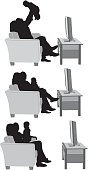 Happy family watching televisionhttp://www.twodozendesign.info/i/1.png