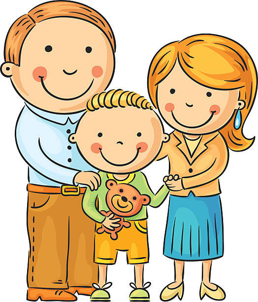 Best Family With One Child Illustrations, Royalty-Free ...