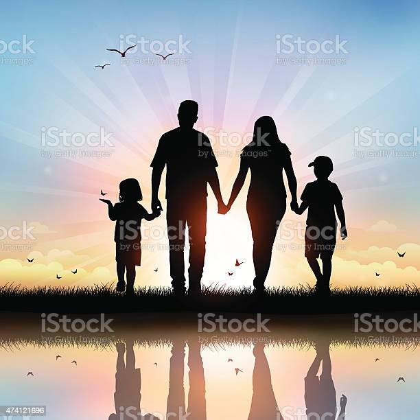 Happy family with children walking at sunset time vector id474121696?b=1&k=6&m=474121696&s=612x612&h=kvz9j17o1g u6a3 1kehxkijyo suraezxgeoy9ccqu=
