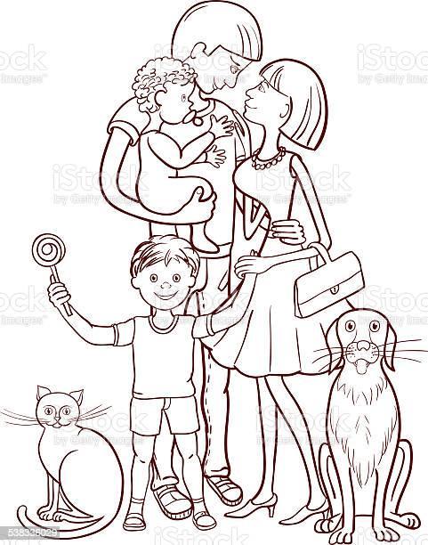 Happy family with two children cat and dog vector id538336029?b=1&k=6&m=538336029&s=612x612&h=geoxwqb3ttyhghmtydl4skyvliiyncffcnwubnithva=