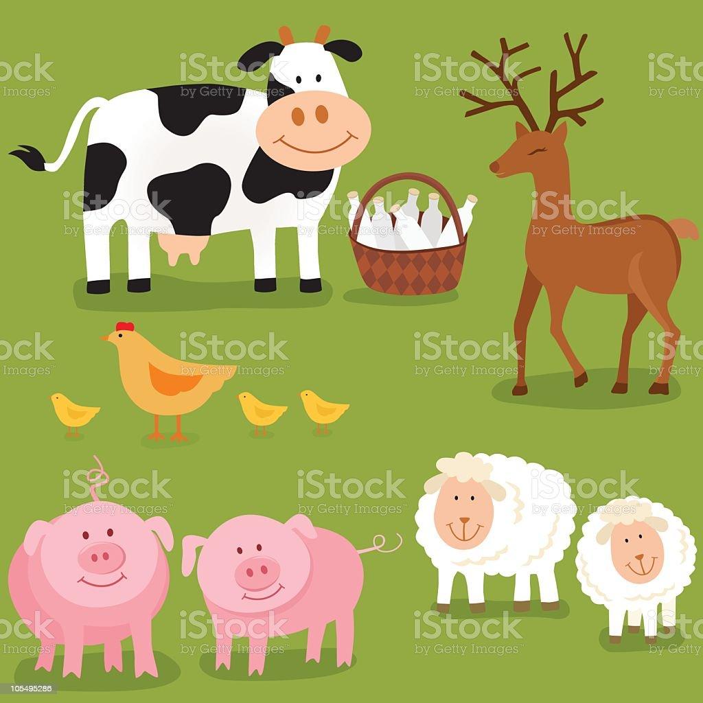 Happy Farm Animals royalty-free happy farm animals stock vector art & more images of animal