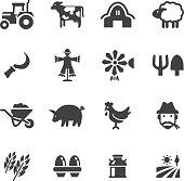 Happy Farm Silhouette icons