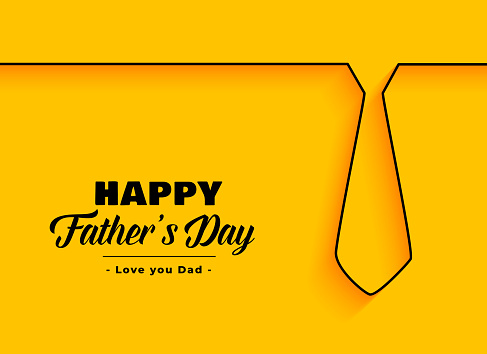 happy father day background in minimal style clipart