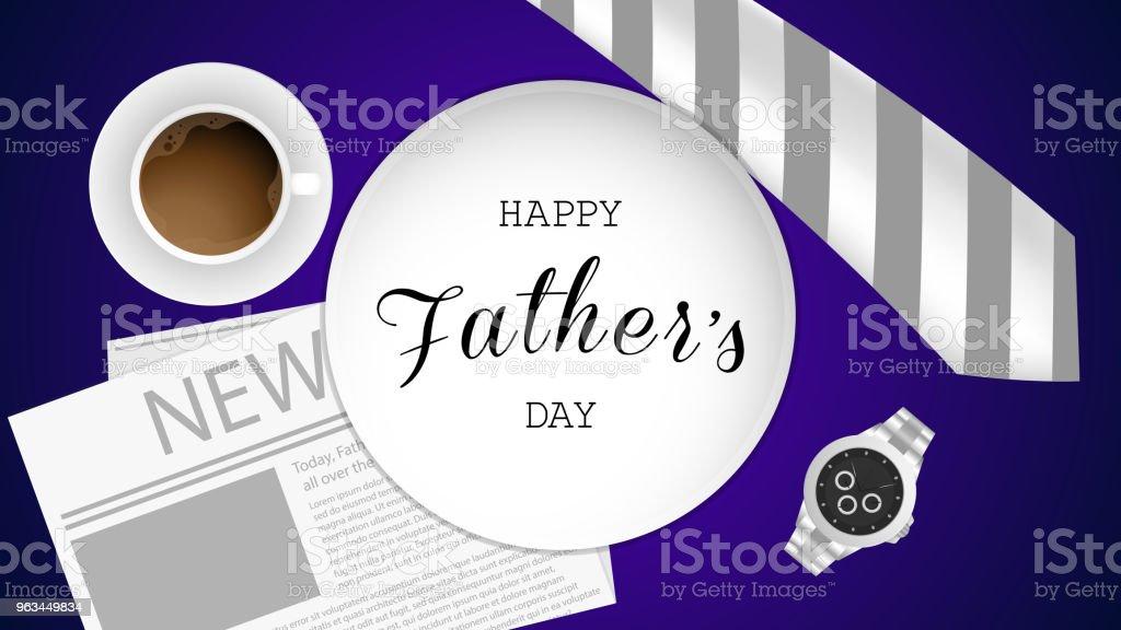 Mutlu baba s günü tebrik kartı - Royalty-free Adamlar Vector Art