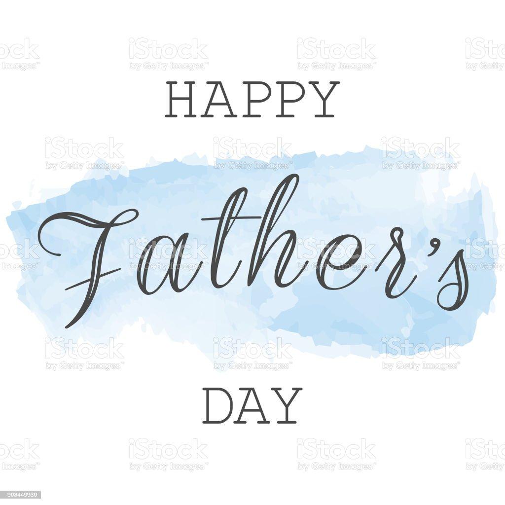 Mutlu baba s günü tebrik kartı. - Royalty-free Adamlar Vector Art