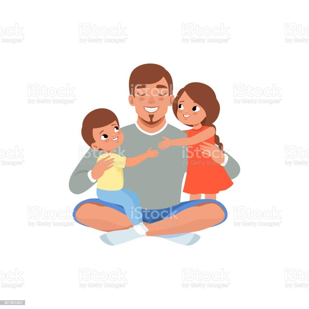 Es ist der vater mit seinem kind