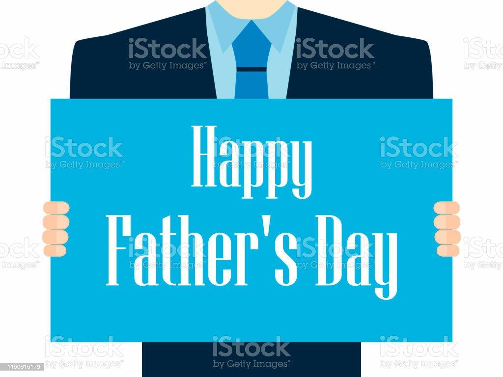Vetores De Feliz Dia Dos Pais Um Poster Festivo Com Um Homem Em Um