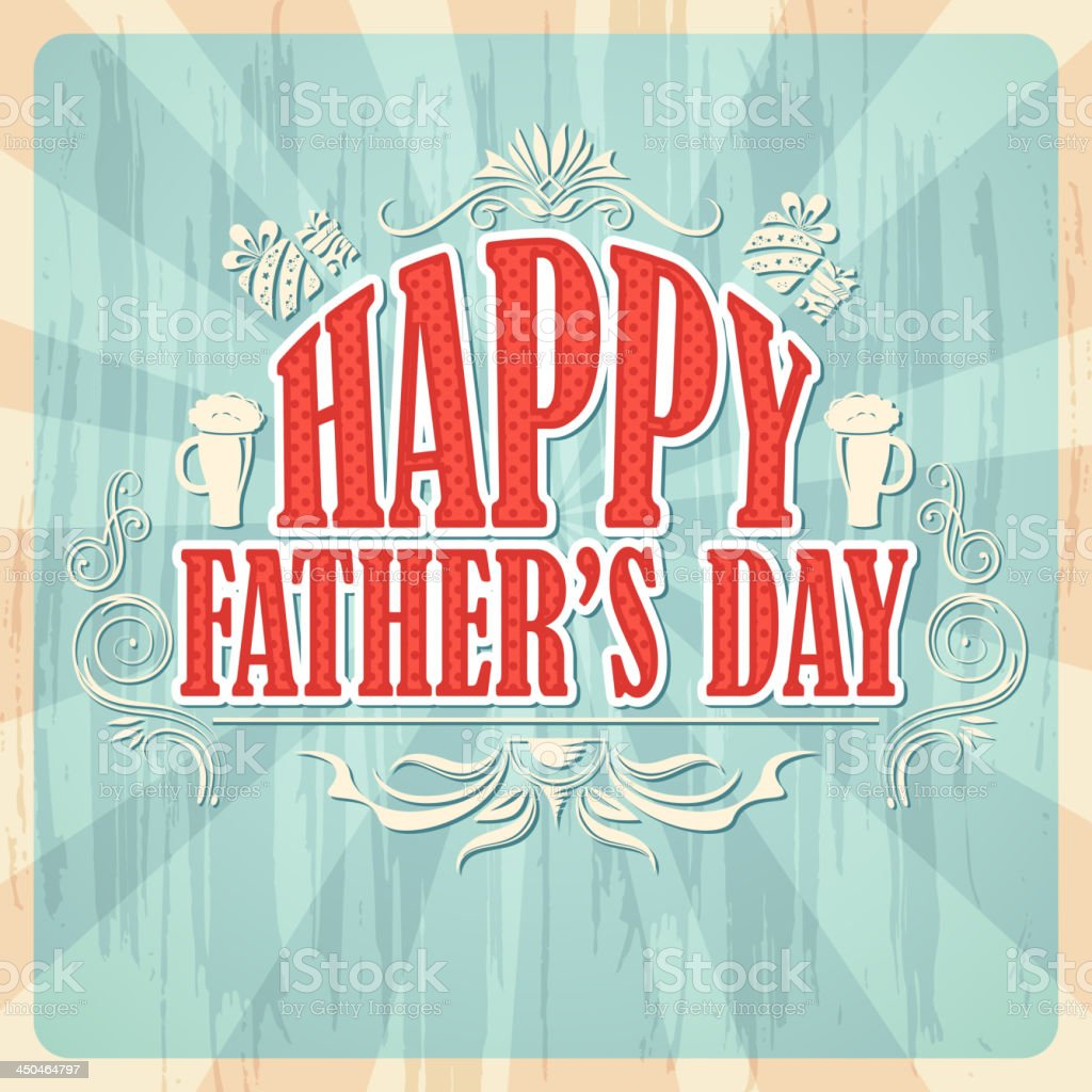 Happy Father's Day Background royalty-free happy fathers day background stock vector art & more images of backgrounds