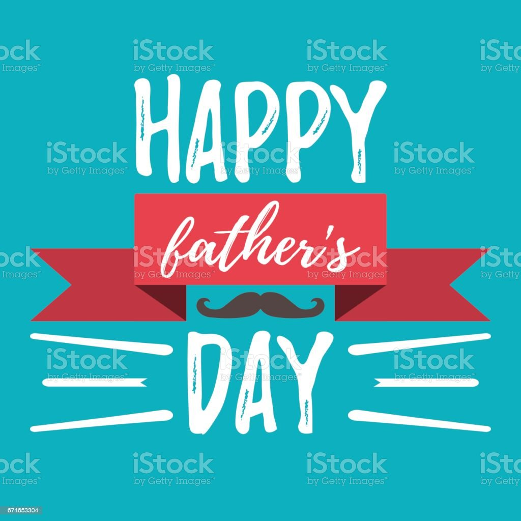 Happy Father's Day banner and giftcard. Vector Illustration. vector art illustration
