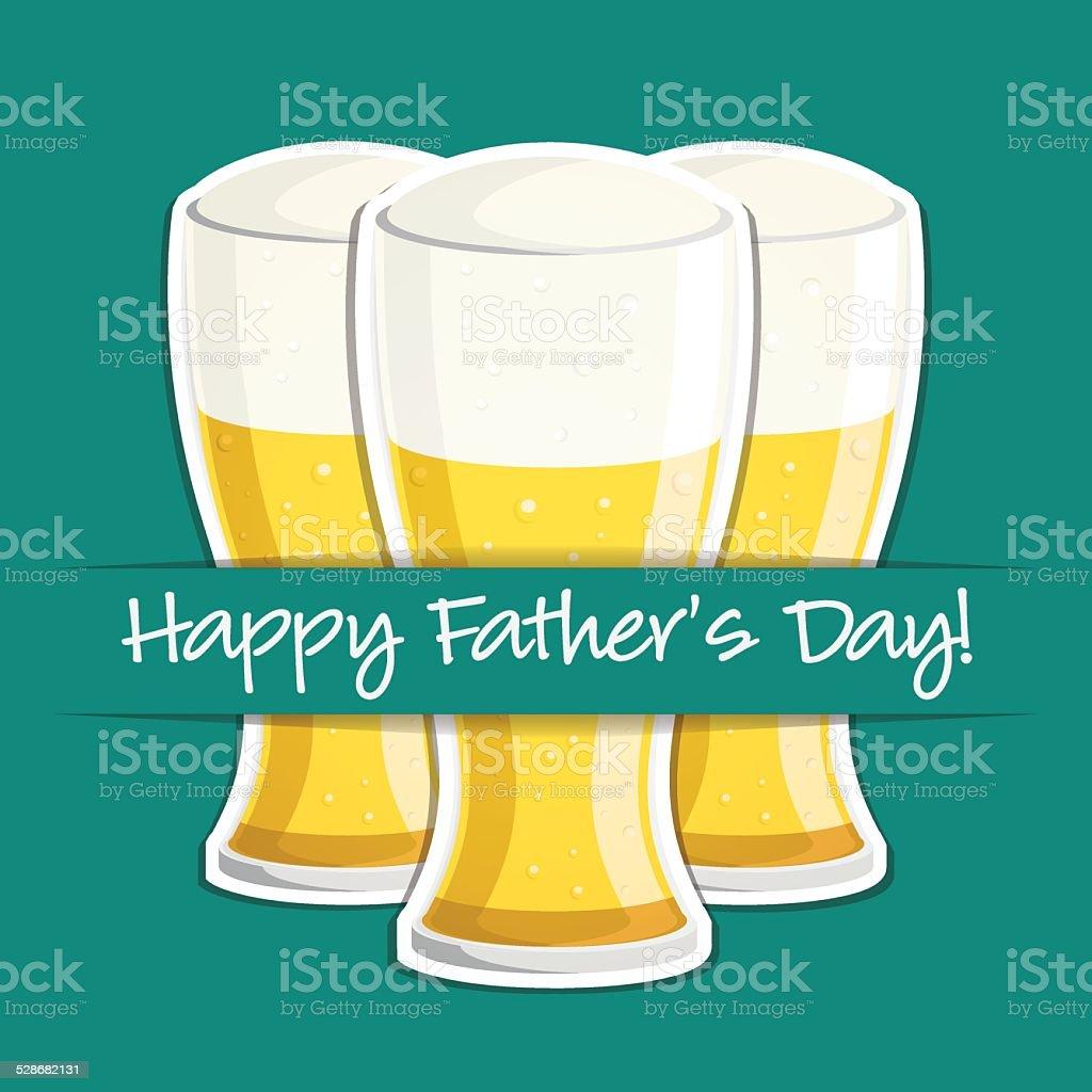 Happy Fathers Day Bierim Vektorformat Vektor Illustration 528682131 ...