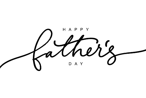 Happy Father's day calligraphy greeting card. Modern vector brush calligraphy. Happy Father's Day typography design