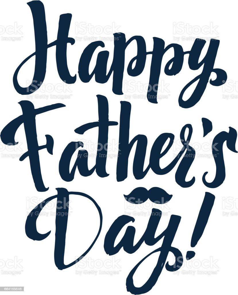 Happy Father's Day Calligraphy Greting card. Ink Inscription. Gr happy fathers day calligraphy greting card ink inscription gr - immagini vettoriali stock e altre immagini di black spider memos royalty-free