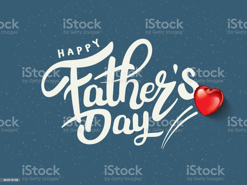Happy Father's Day Calligraphy vector art illustration