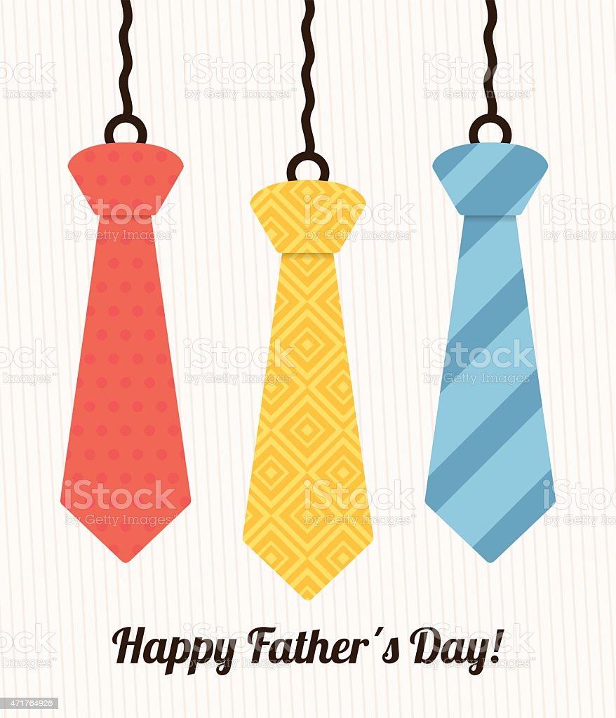 Happy fathers day card design. vector art illustration