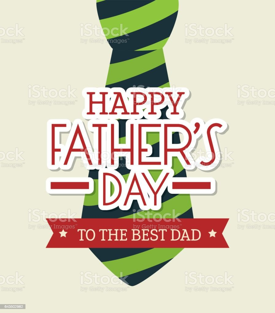 Happy fathers day card design vector art illustration