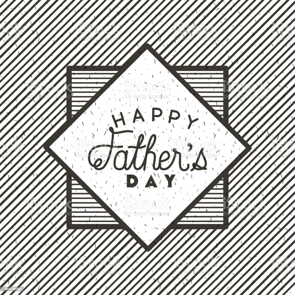 happy fathers day card emblem royalty-free happy fathers day card emblem stock vector art & more images of banner - sign