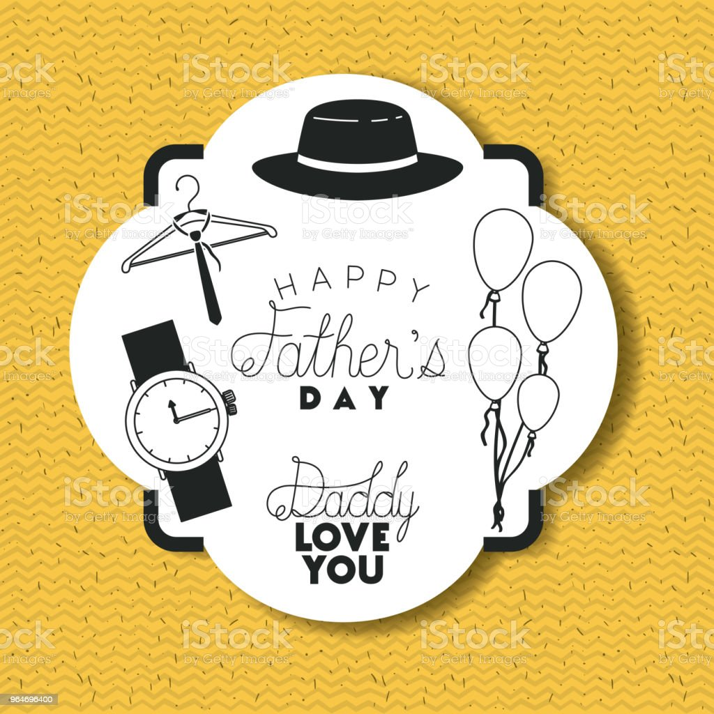 happy fathers day card with accessories royalty-free happy fathers day card with accessories stock vector art & more images of balloon