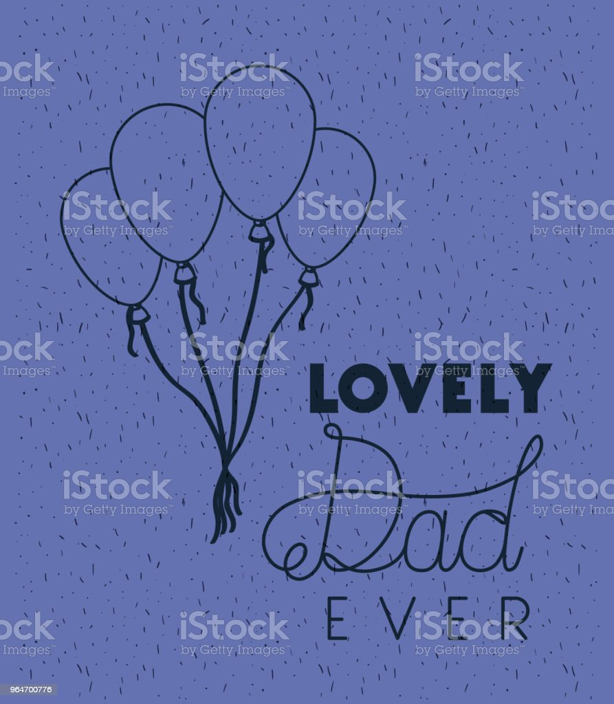 happy fathers day card with balloons air royalty-free happy fathers day card with balloons air stock vector art & more images of balloon