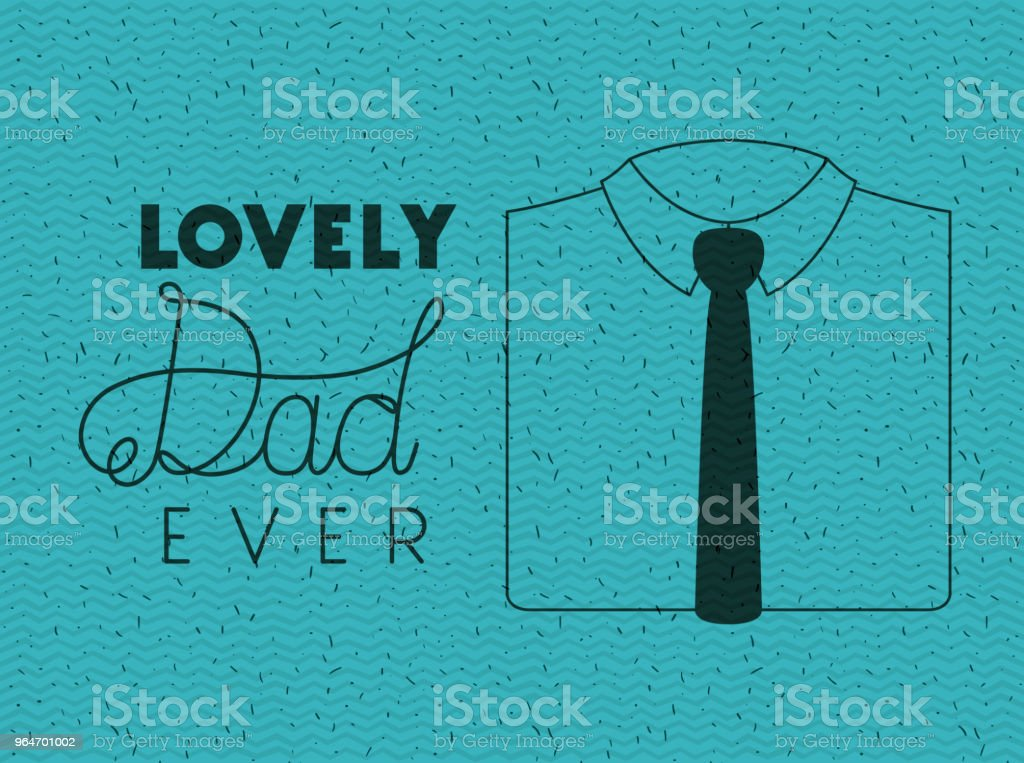 happy fathers day card with elegant shirt and tie royalty-free happy fathers day card with elegant shirt and tie stock vector art & more images of banner - sign