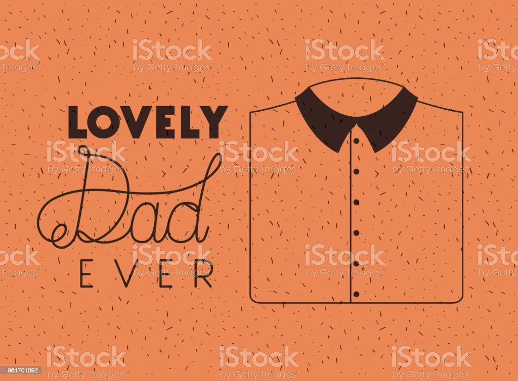 happy fathers day card with elegant shirt royalty-free happy fathers day card with elegant shirt stock vector art & more images of banner - sign