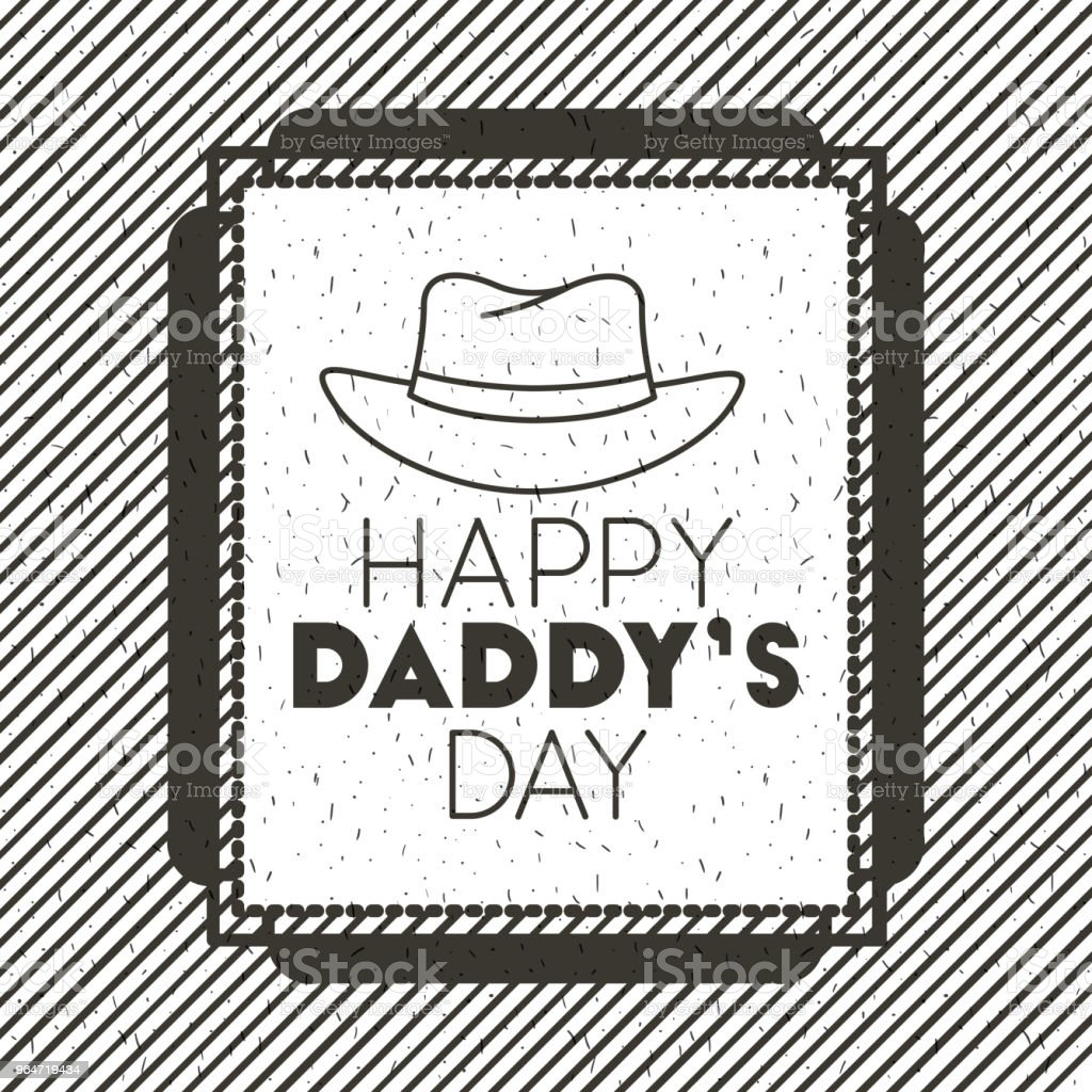 happy fathers day card with hat royalty-free happy fathers day card with hat stock vector art & more images of banner - sign