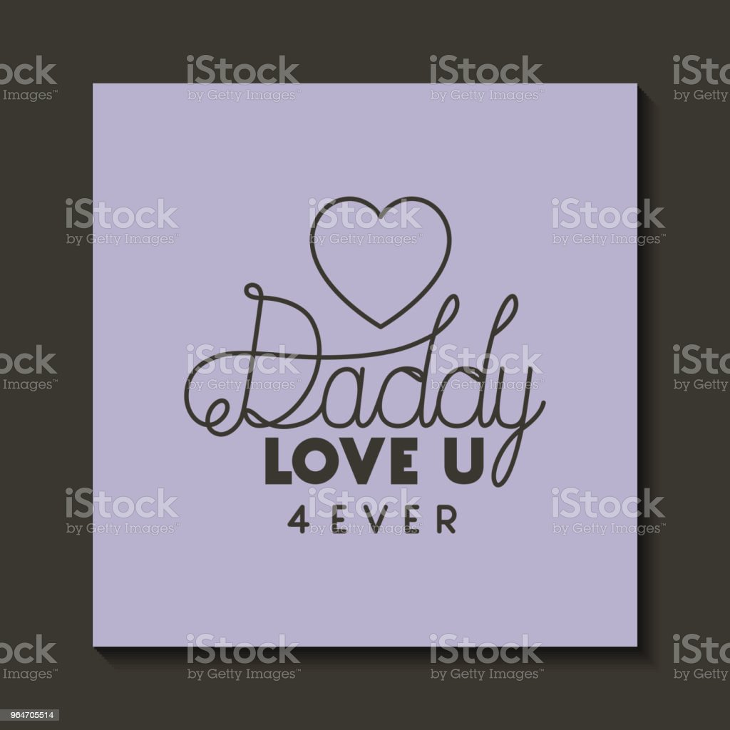 happy fathers day card with heart royalty-free happy fathers day card with heart stock vector art & more images of banner - sign
