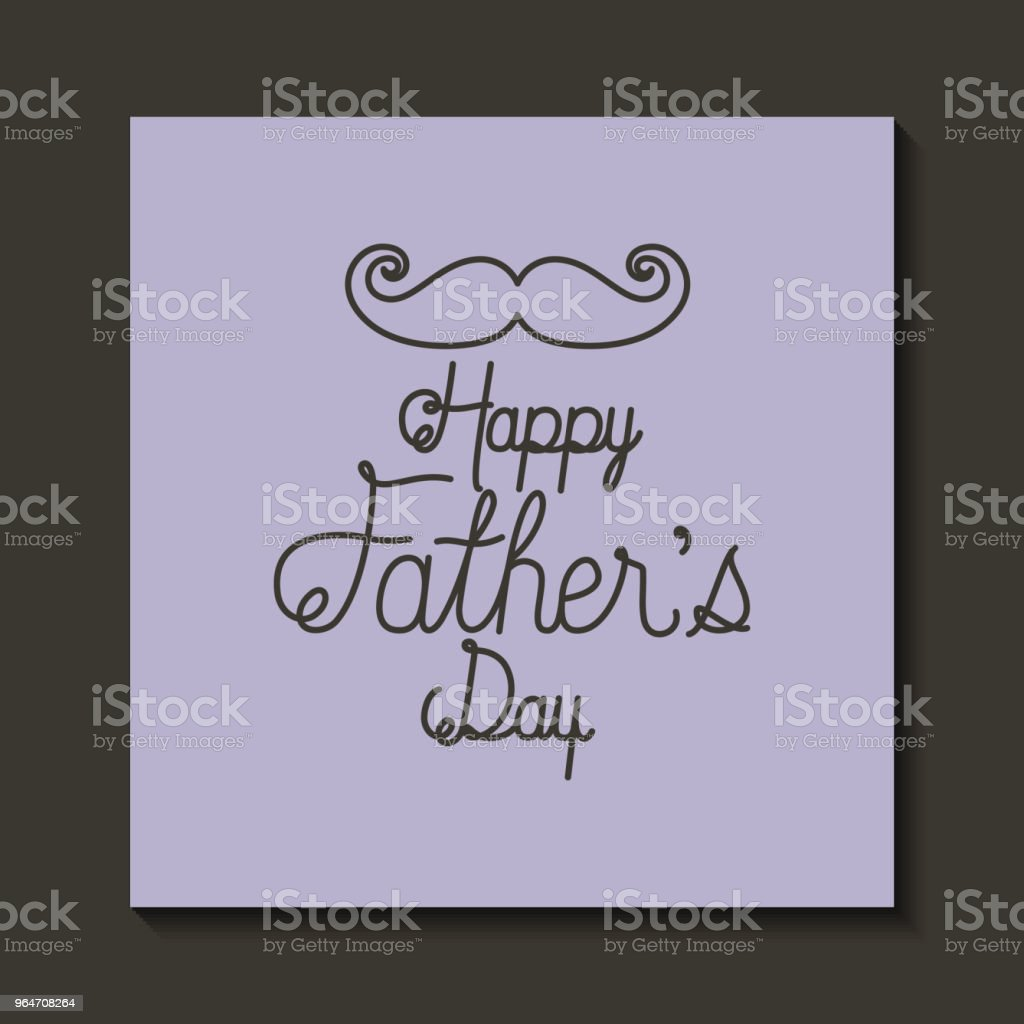 happy fathers day card with mustache royalty-free happy fathers day card with mustache stock illustration - download image now